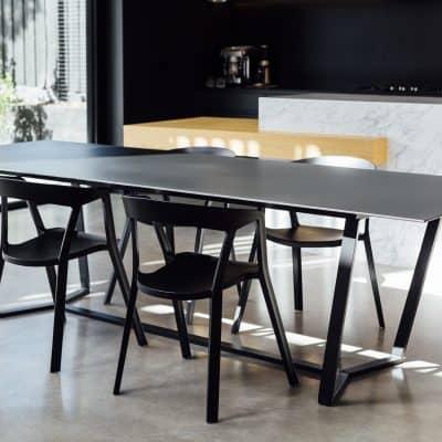 matte black coated table
