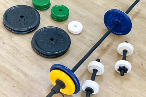 Spray Painted Gym Weights