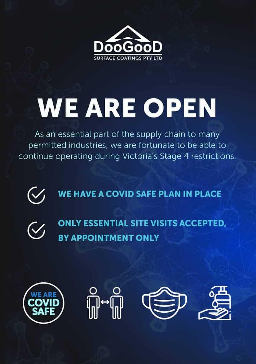 Doogood we are open flyer