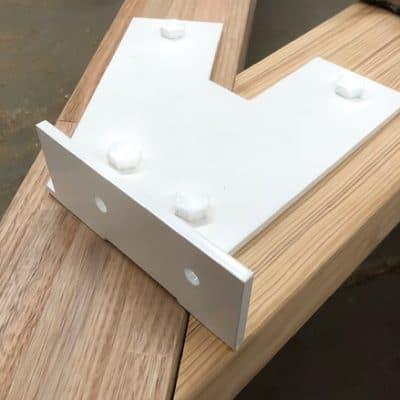 Flurobond white fasteners